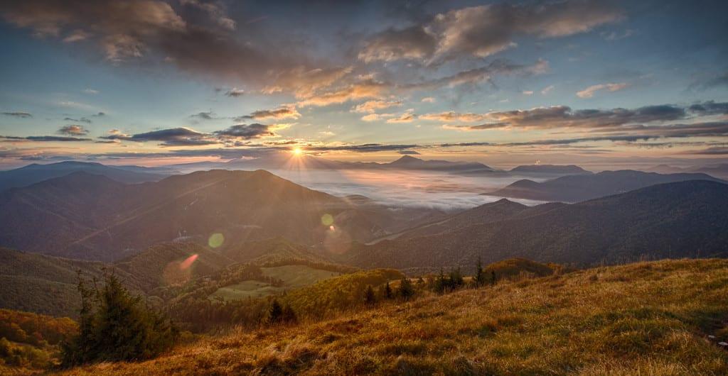 Sunrise at Osnica, Mala Fatra, Slovakia