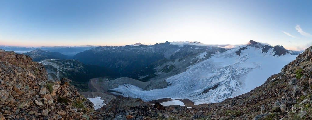 Panoramatic View from Fissile Peak in Whistler, British Columbia, Canada