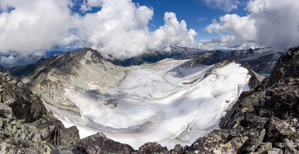 Spearhead panoramatic view, Whistler, British Columbia, Canada