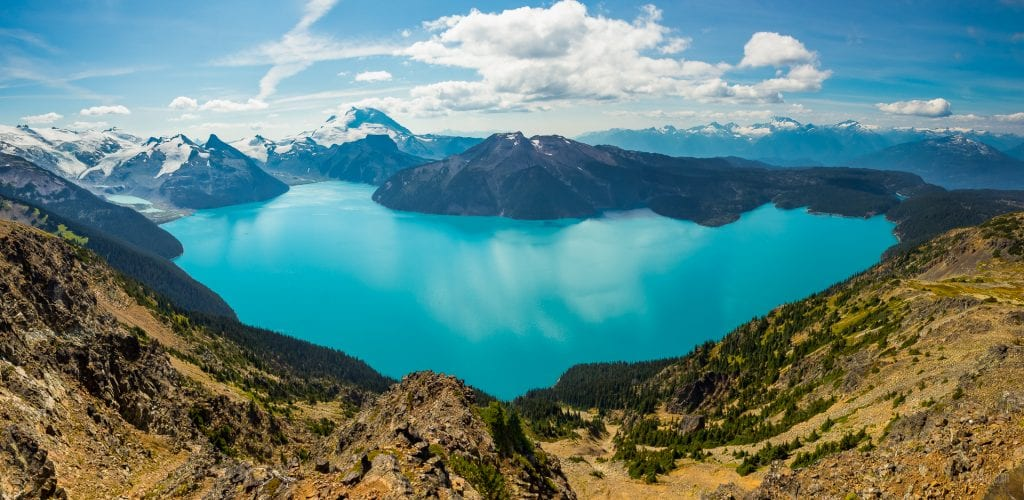 Garibaldi Lake From Panorama Ridge, British Columbia, Canada