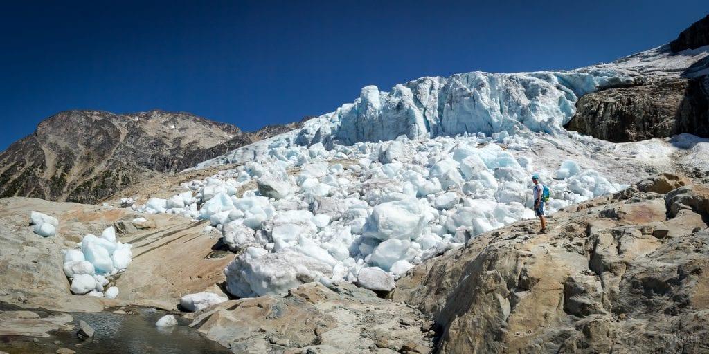Matier Glacier above Jofree Lakes, British Columbia, Canada
