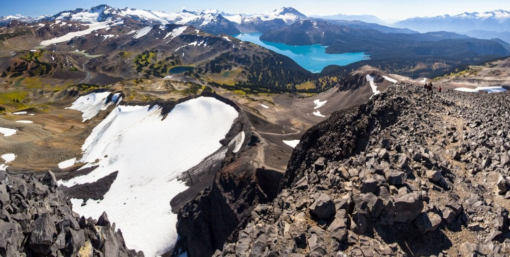 View from Black Tusk, Garibaldi lake, British Columbia, Canada